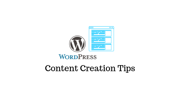 WordPress Content Creation