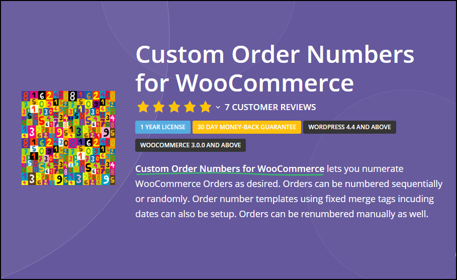 WooCommerce Order IDs Sequential | Custom Order Numbers for WooCommerce