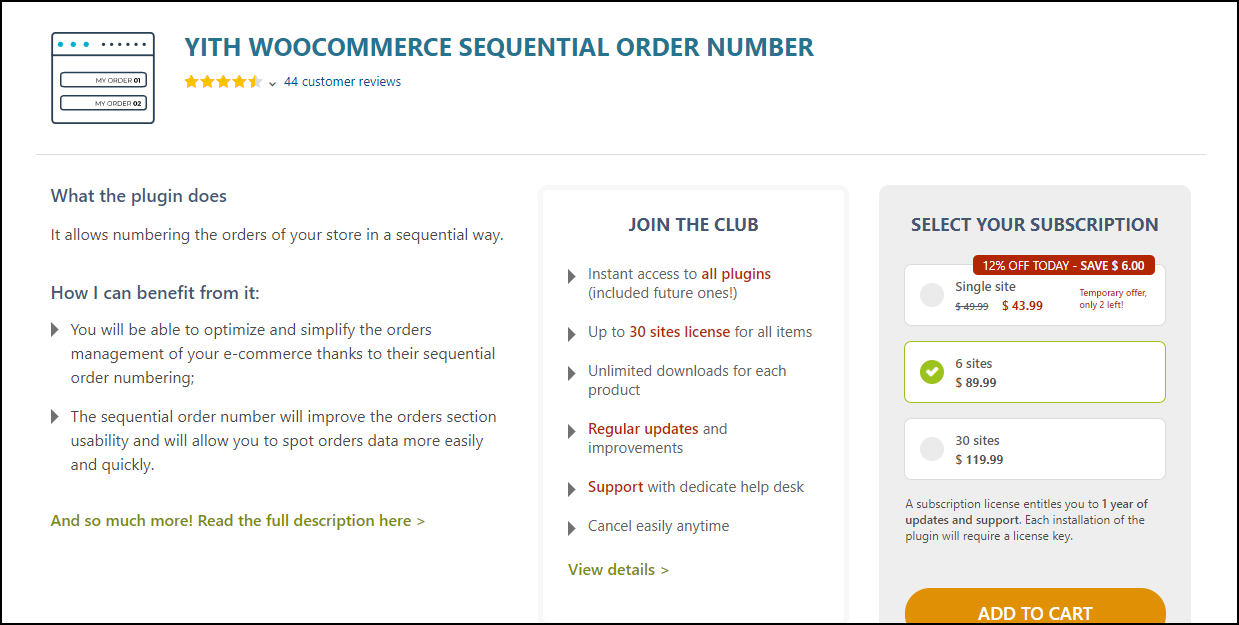 WooCommerce Order IDs Sequential | YiTH WooCommerce Sequential Order Number
