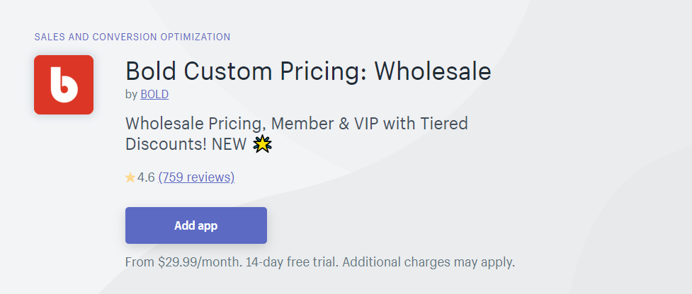 wholesale pricing apps