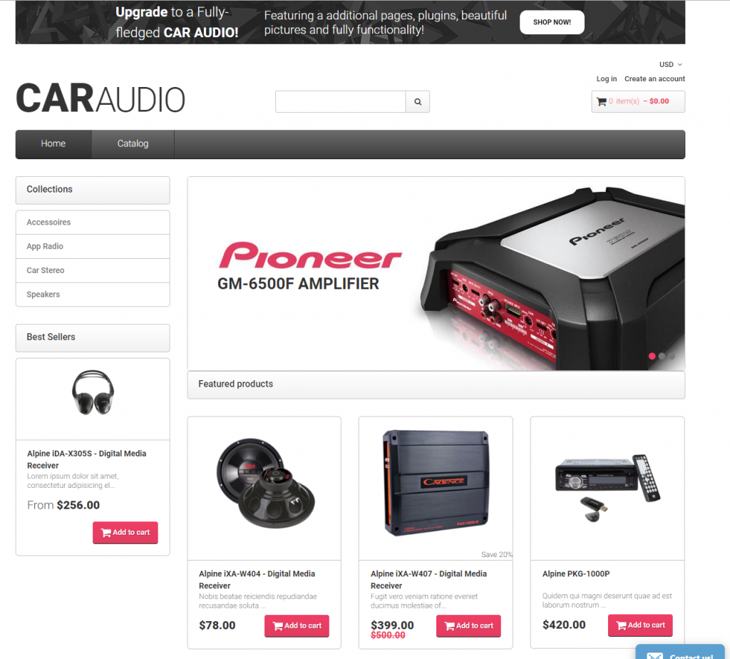 Caraudio / free Shopify themes