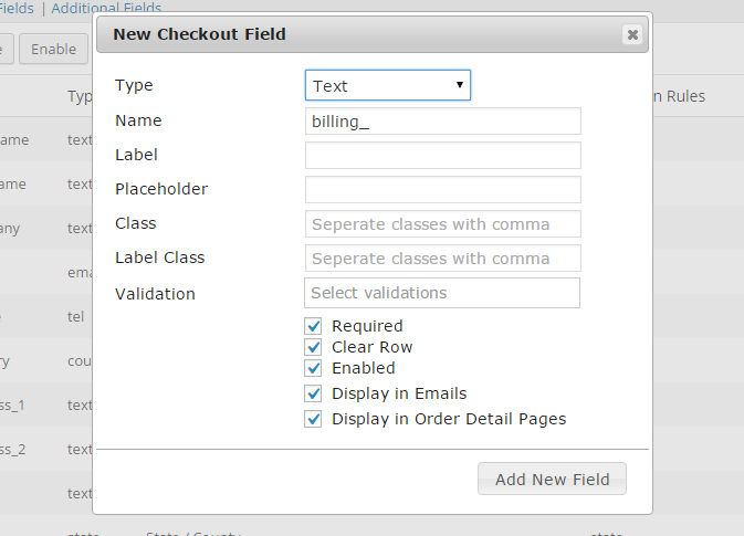 Free WooCommerce Checkout Field editor plugins
