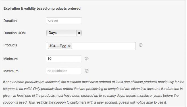 WooCommerce coupon code management
