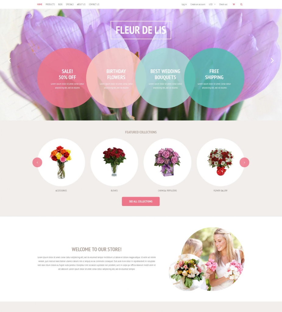 Fleur de lis / free Shopify themes