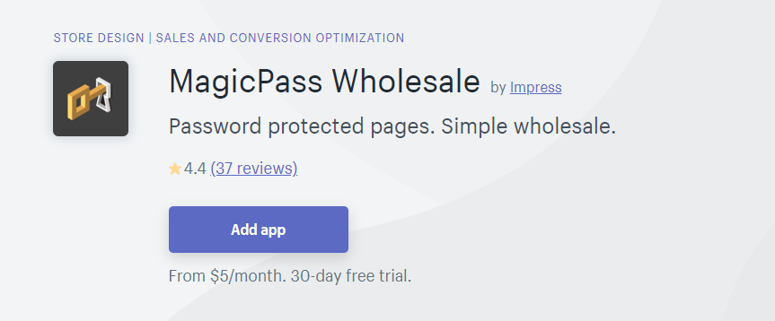 MagicPass Wholesale / Wholesale pricing apps.