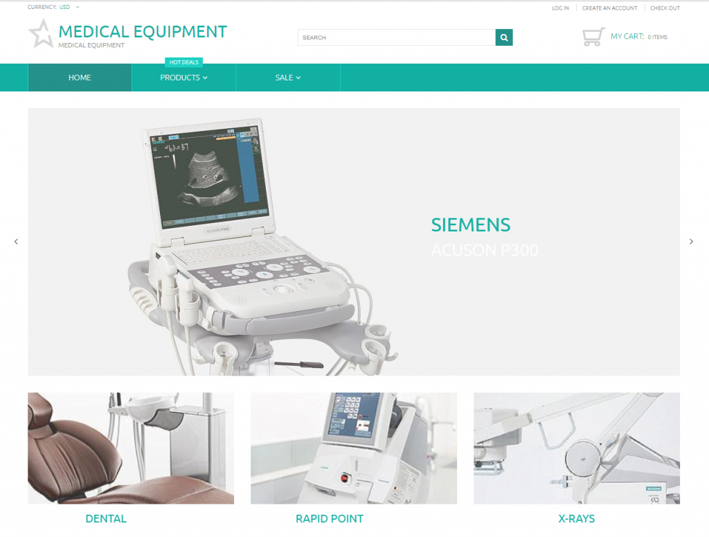 Medical equipment / free Shopify themes