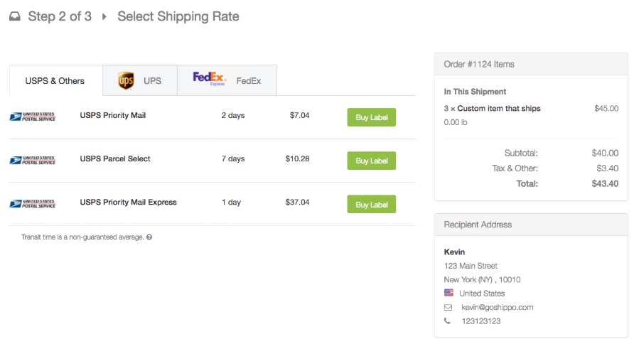 Shopify apps for shipping rates and label printing