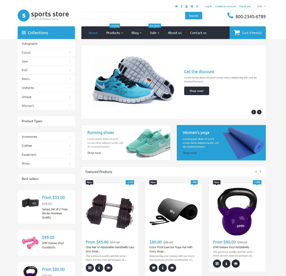 Sports Store / free Shopify themes