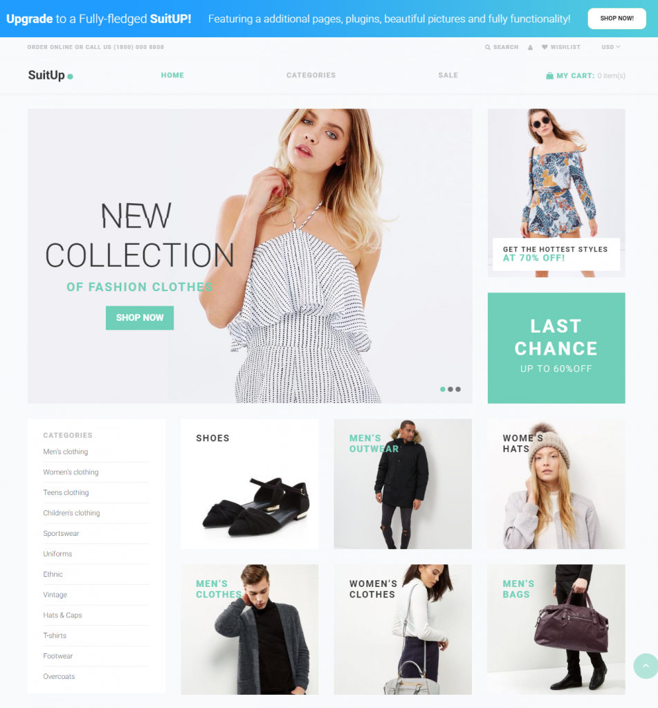 Suit UP / free Shopify themes