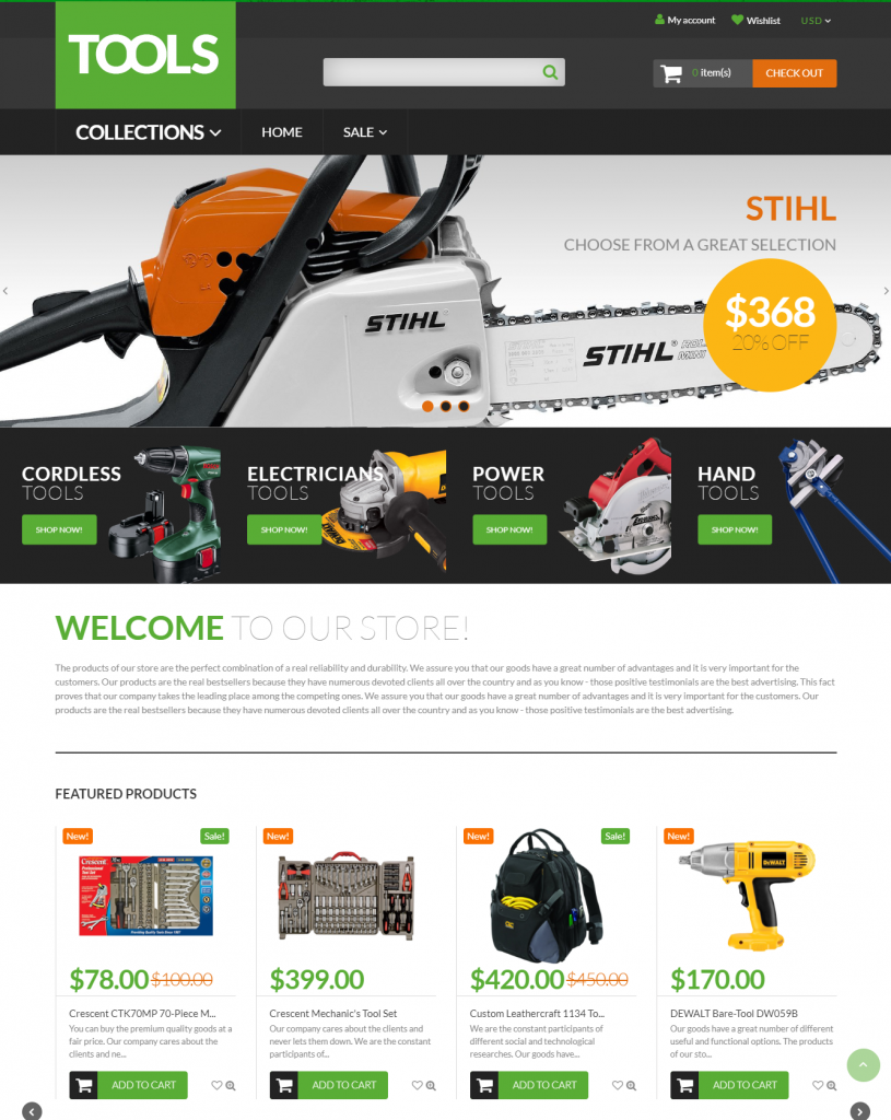 Tools / free Shopify themes