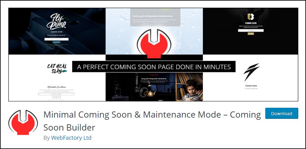 WordPress Maintenance Mode | Minimal Coming Soon - Coming Soon Builder