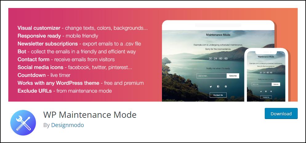 WordPress Maintenance Mode | WP Maintenance Mode plugin