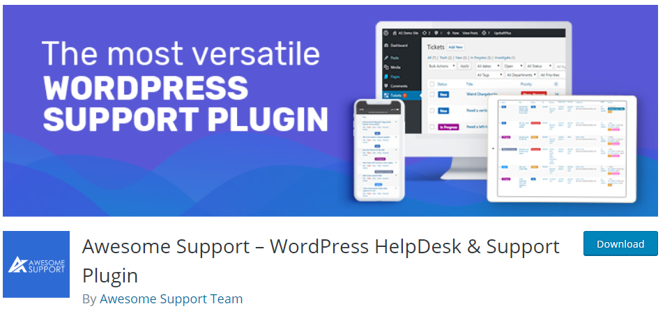 AwesomeSupport WordPress Support Ticket system