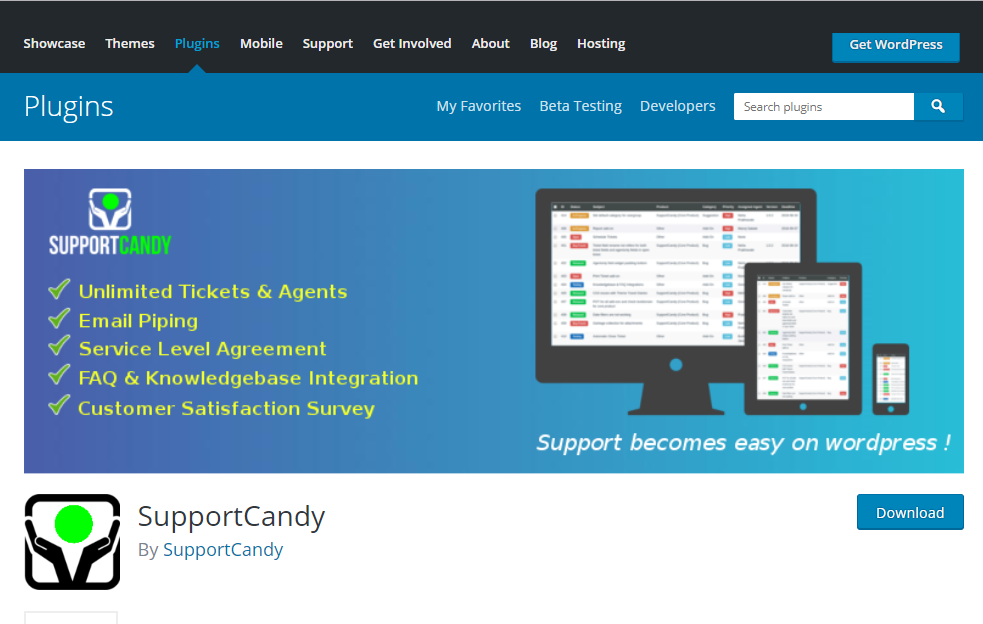 Support Candy | WordPress Support Ticket System