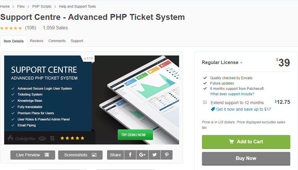 Support CetnerAdvanced PHP | WordPress Support Ticket System
