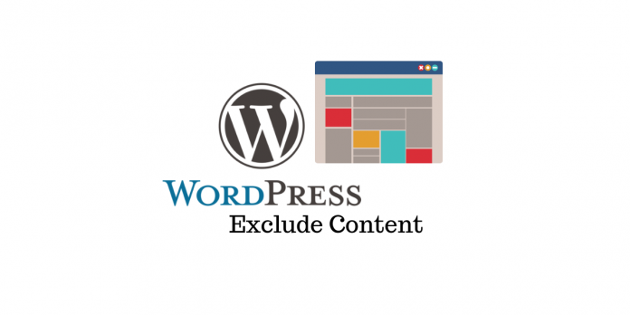 Exclude WordPress Content