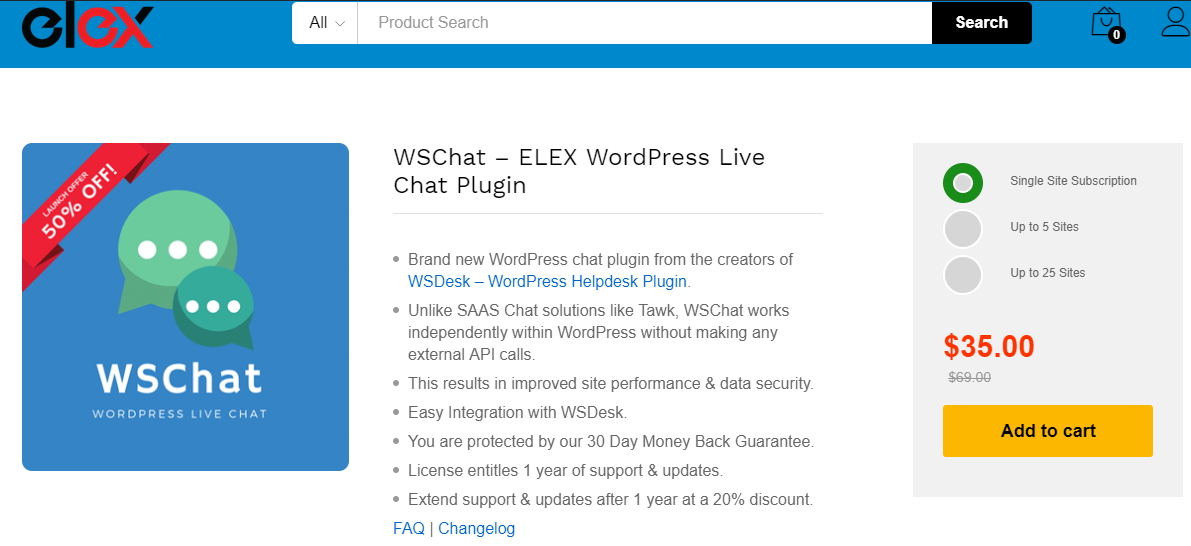 WSChat | Live chat plugin