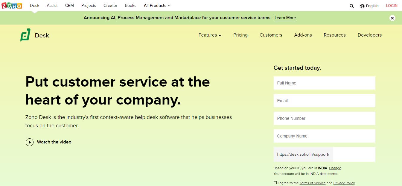 Zoho Helpdesk |customer support plugin