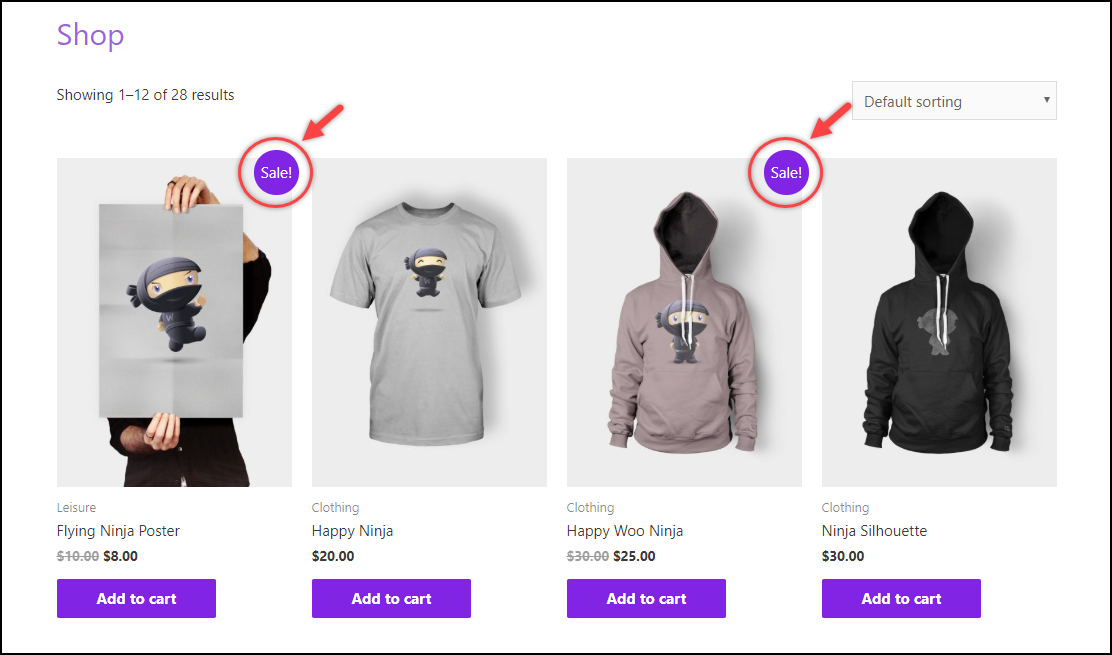 Remove WooCommerce Sale Badge | Default Shop Page View with Sale Badge