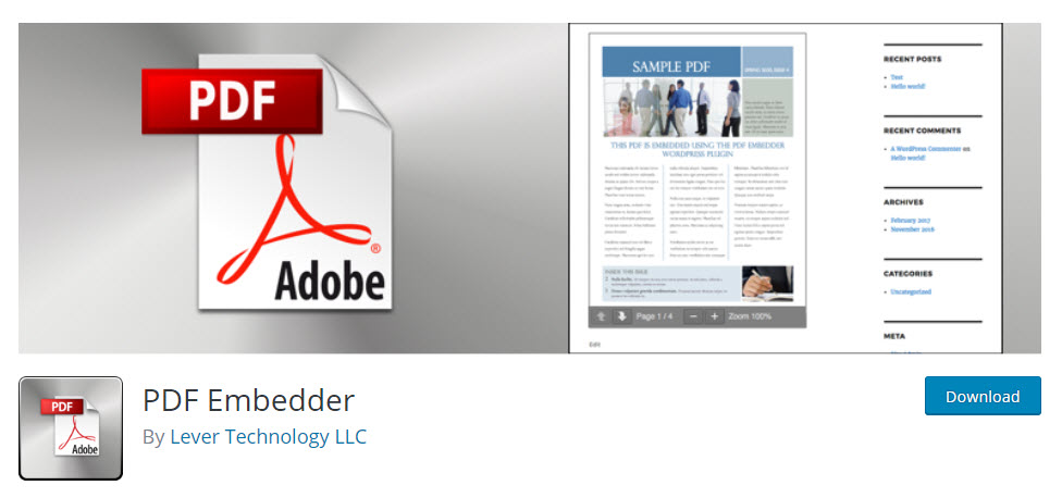 Embed PDF in WordPress