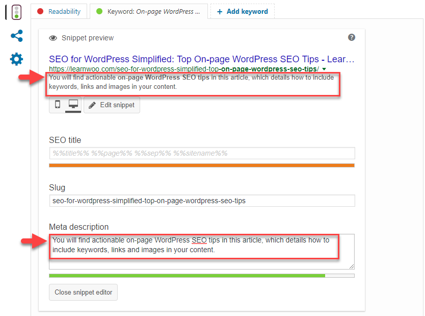 On-page WordPress SEO Tips