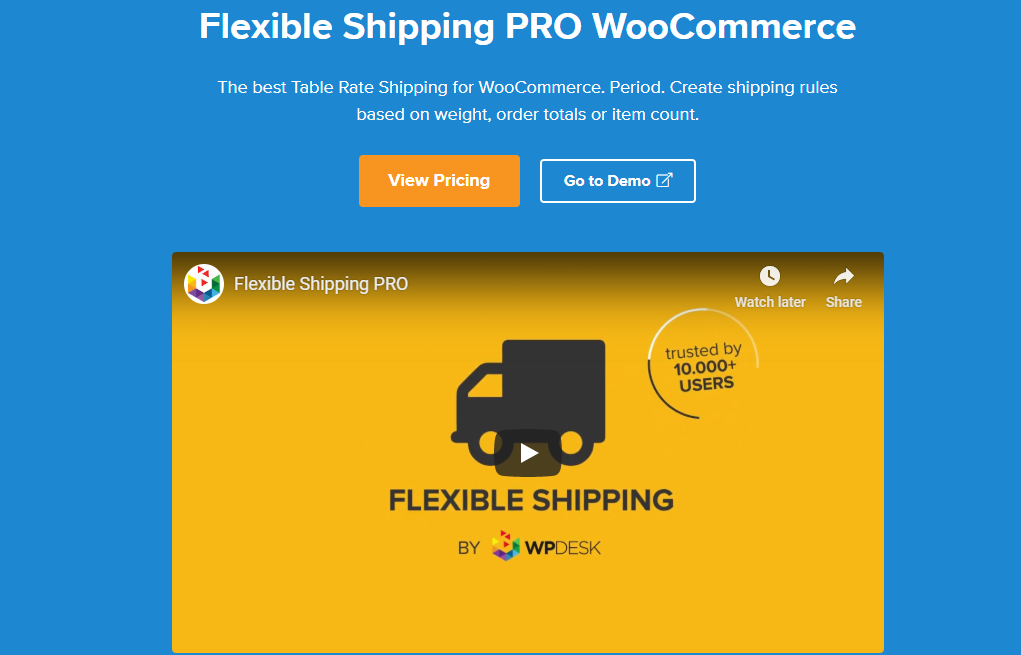 Best table rate shipping plugins.