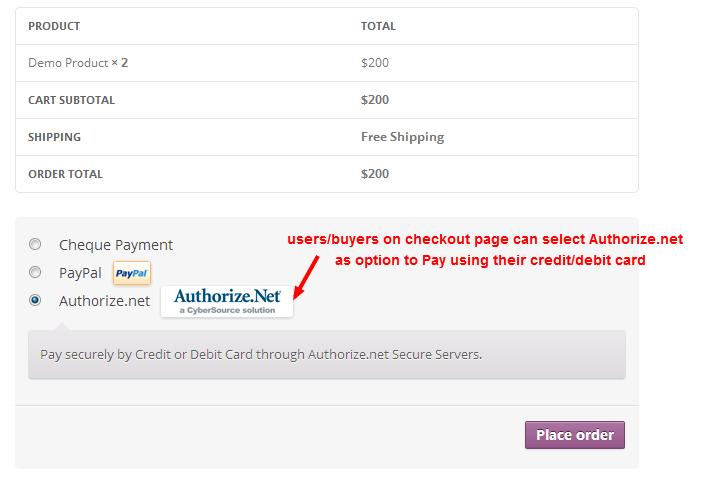 WooCommerce Authorize.net plugins