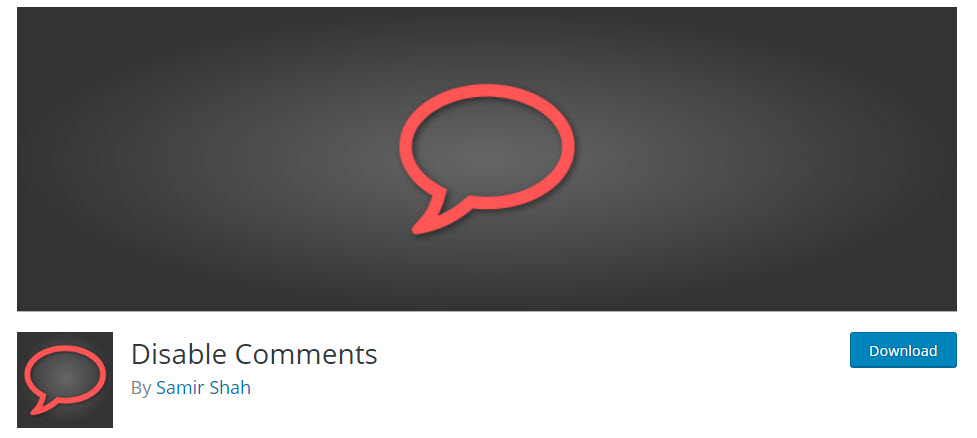 disable comments on WordPress