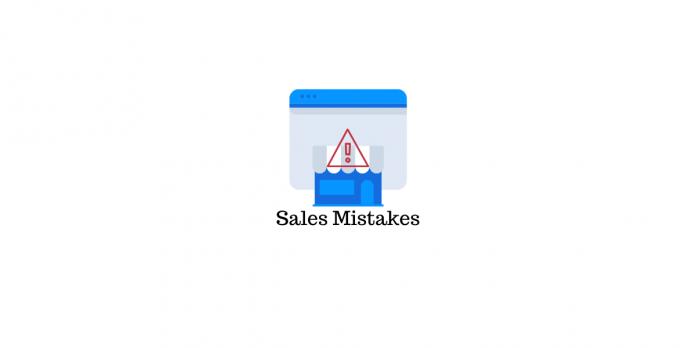 Sales Mistakes