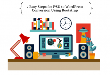 PSD to WordPress Conversion Using Bootstrap