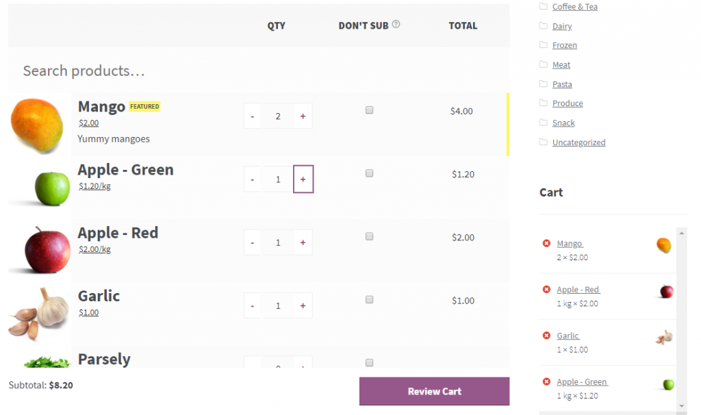 WooCommerce Quick Order Plugins