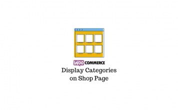 Show categories on shop page