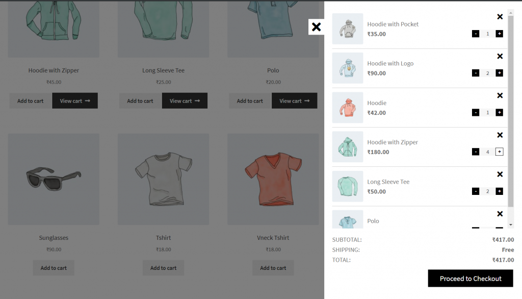 WooCommerce Mini Cart Plugins