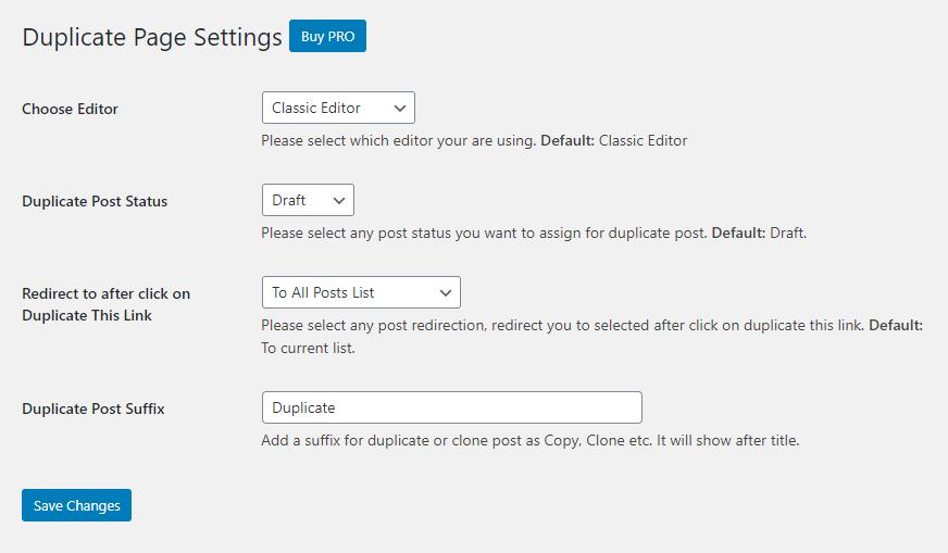 duplicate a wordpress page