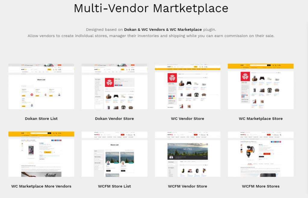 WooCommerce multi vendor themes