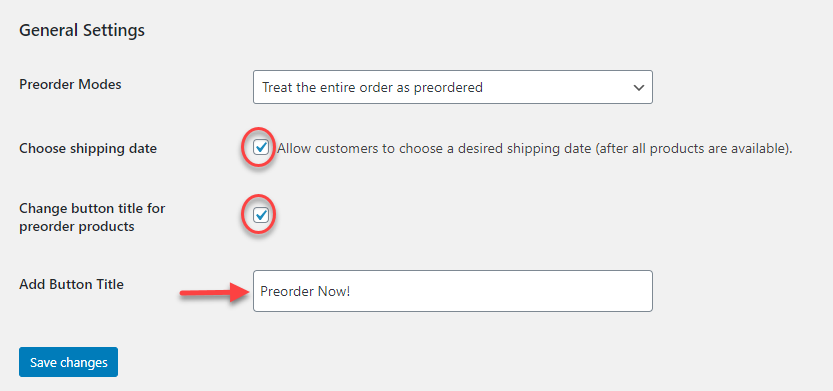Preorders for WooCommerce plugin