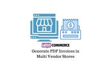 Generate PDF Invoices in WooCommerce Multi Vendor Store