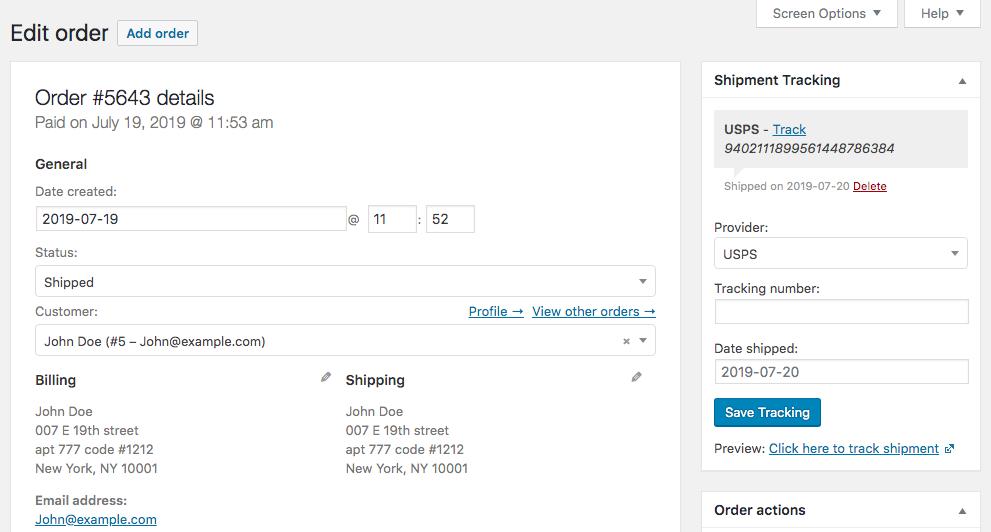 WooCommerce shipment tracking plugins