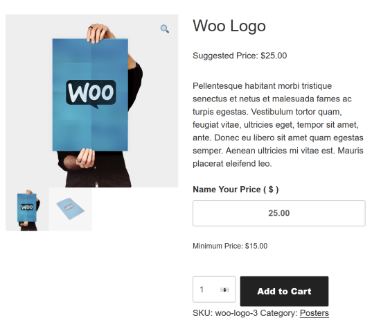 WooCommerce Name Your Price Plugins