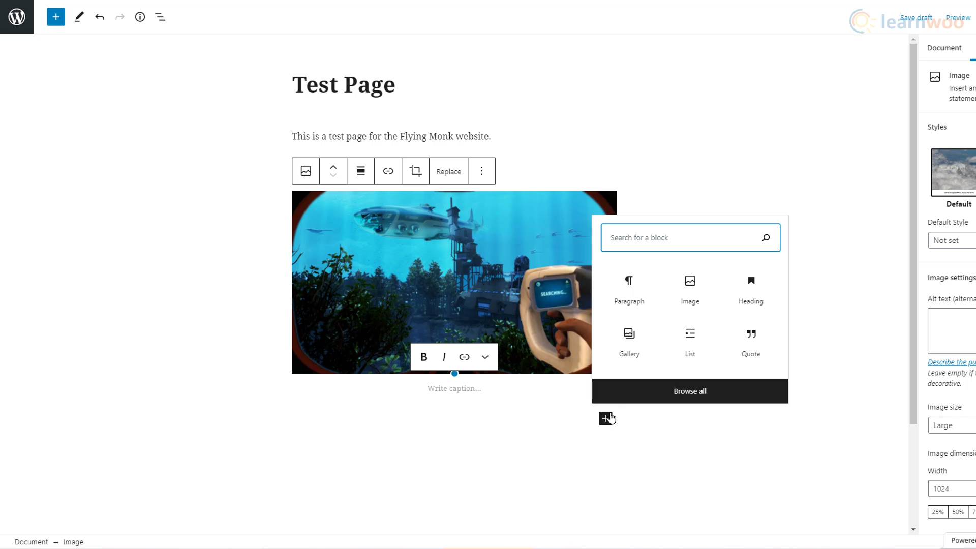 image of wordpress block builder