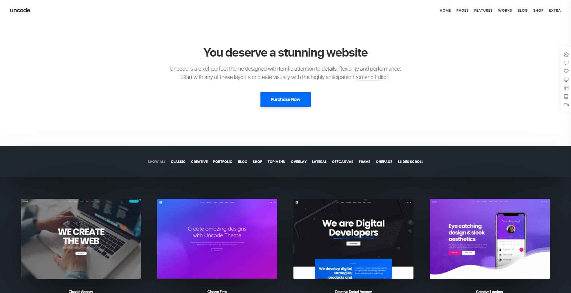 Uncode homepage