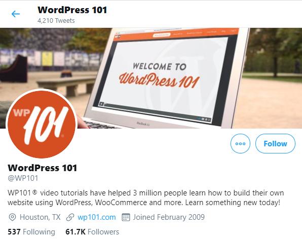 Comptes Twitter pour WordPress WooCommerce