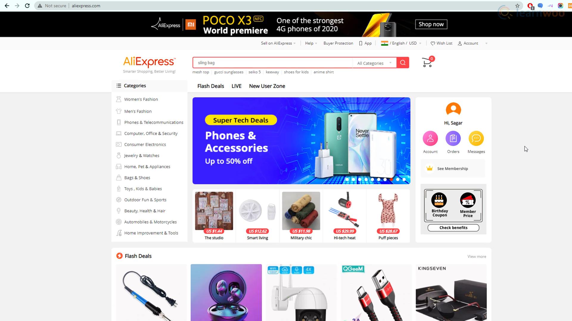 AliExpress website