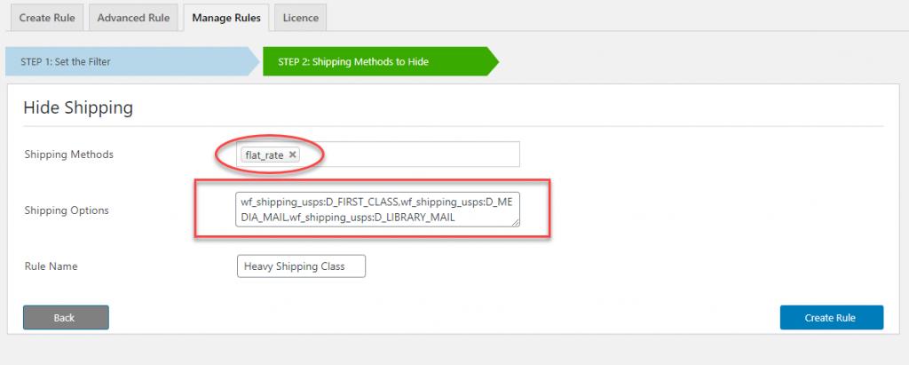 WooCommerce shipping classes