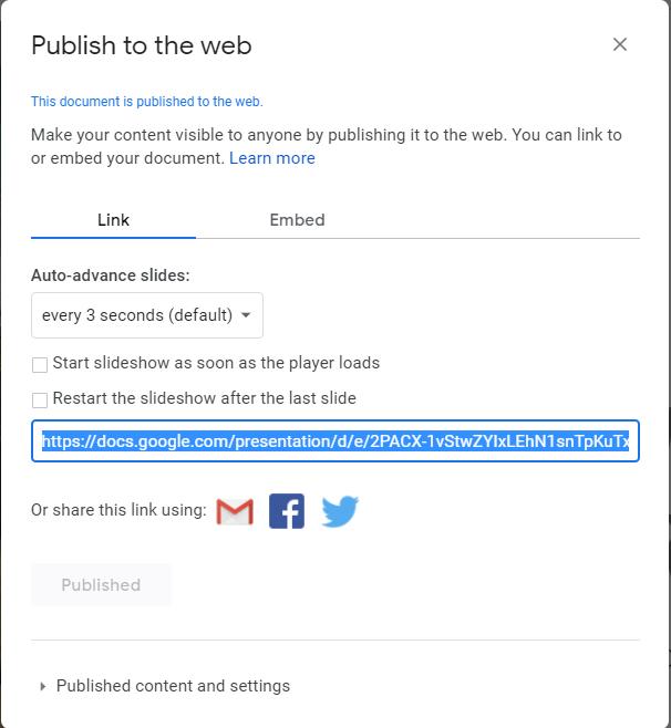 Google Slides Presentations in WordPress