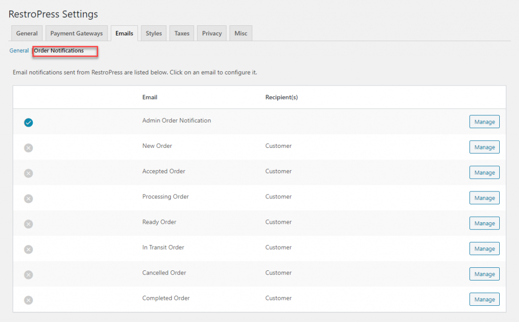 You can control the appearance of the online ordering system through the settings under the Styles section.