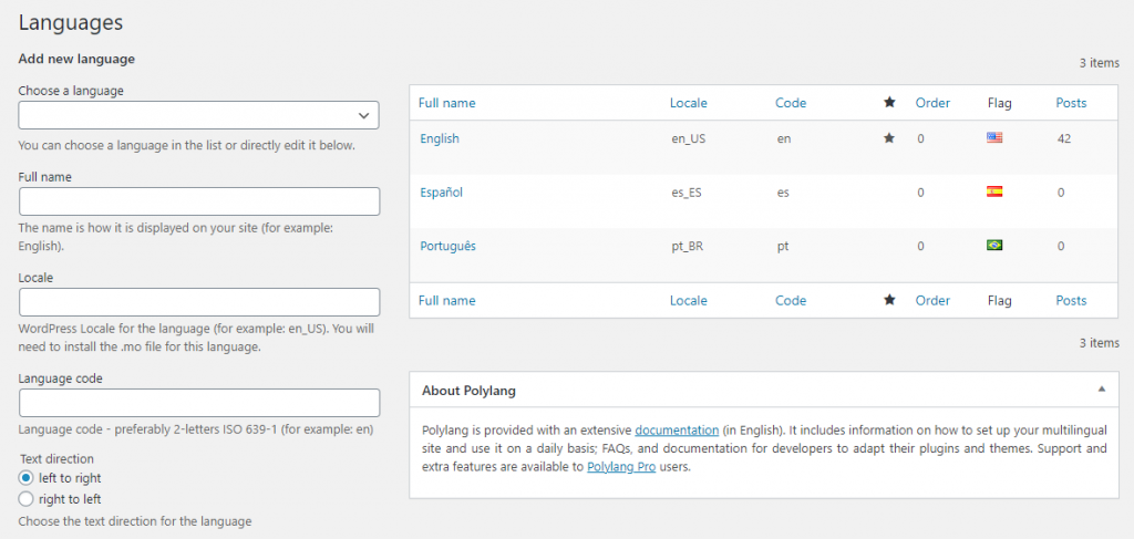 WordPress Multi-language Support