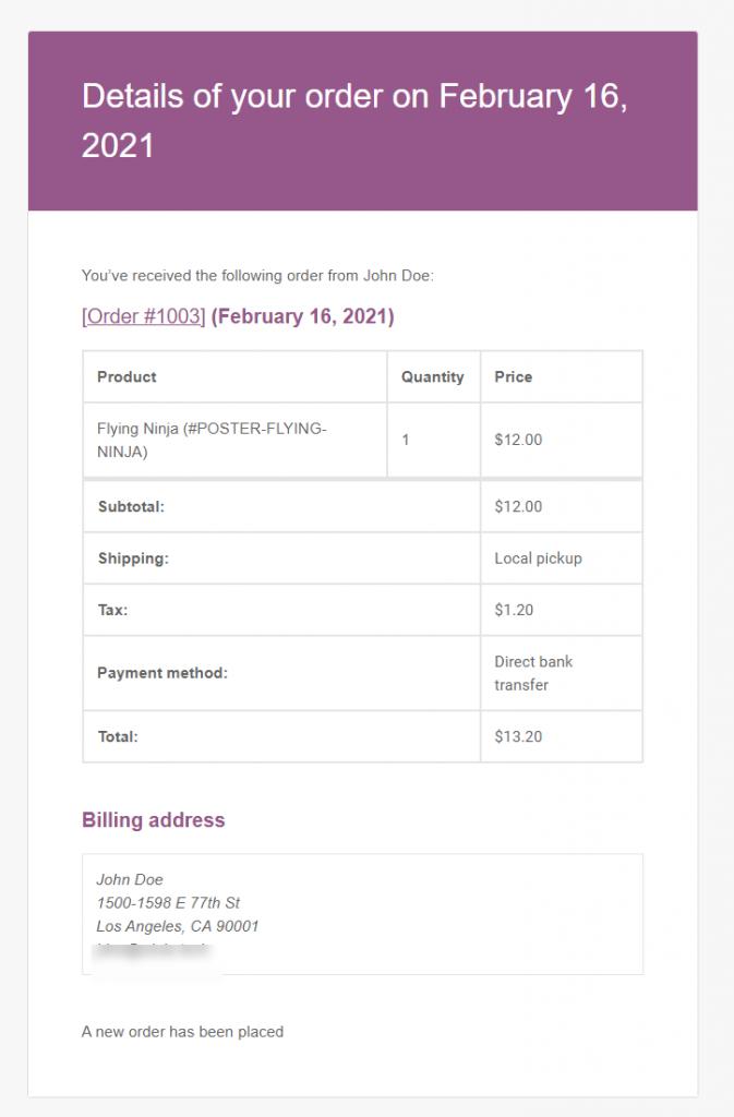 Customizing WooCommerce Email Templates
