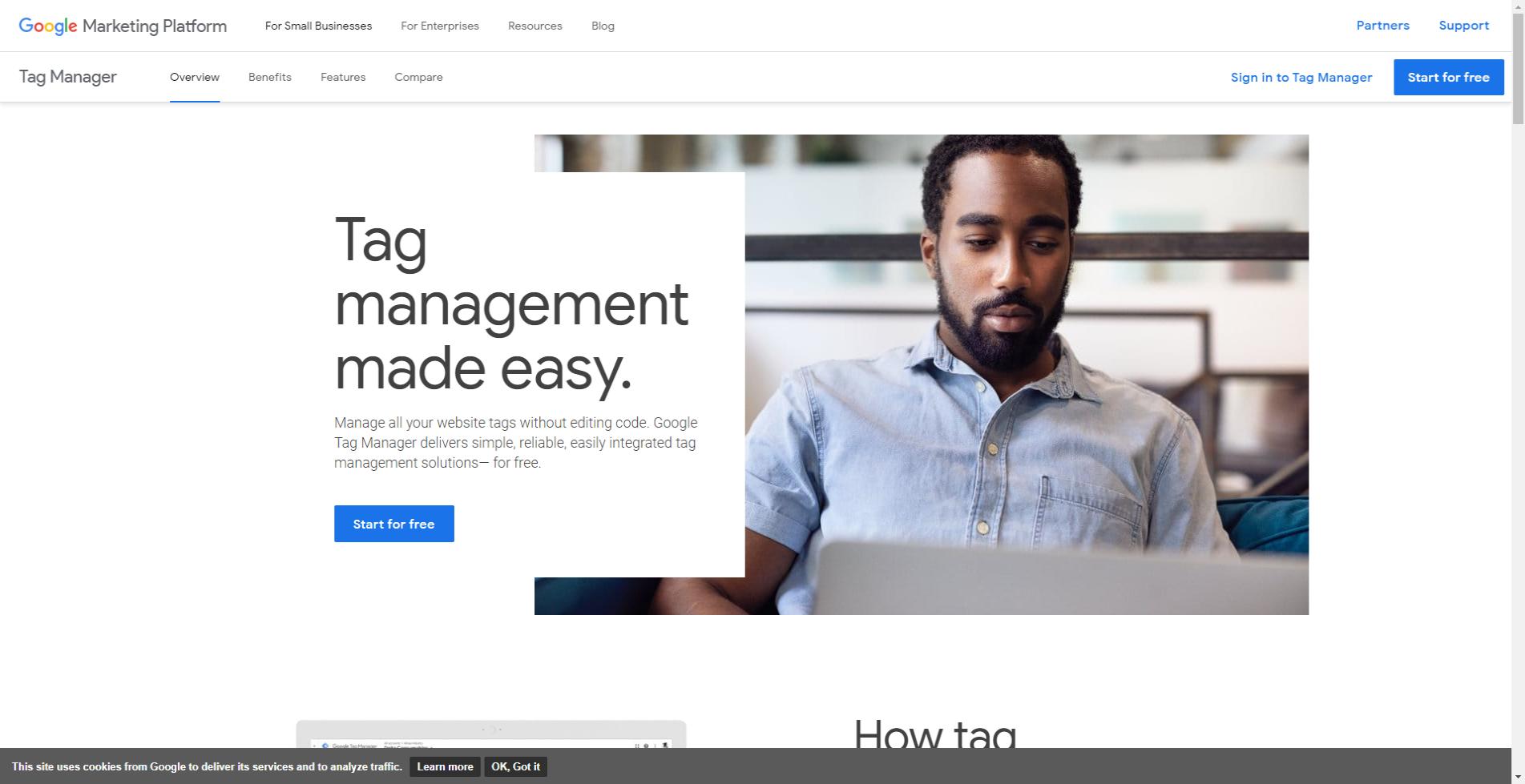 Google Tag Manager website