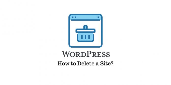 How to Delete a WordPress Site
